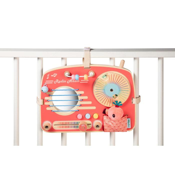 Obrázek Lilliputiens - dřevěný panel s aktivitami - rádio