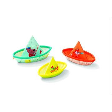 Obrázek Lilliputiens - 3 plovoucí lodičky - hračka do vody