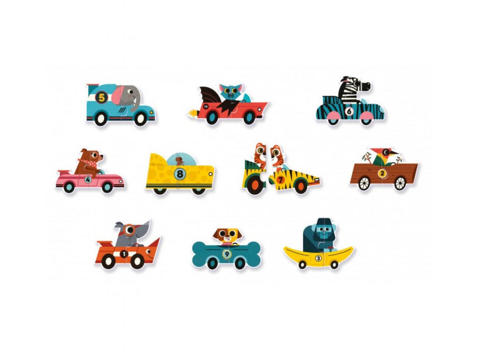 Obrázek DJECO Duo puzzle Závodní auta