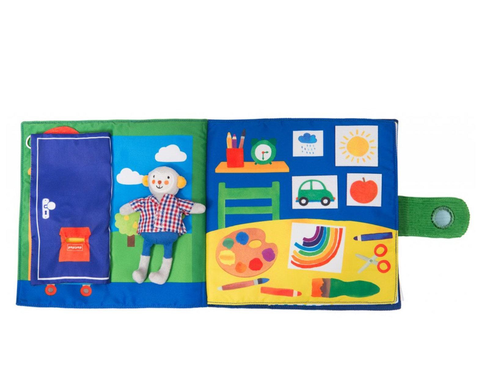 Obrázek Látková interaktivní kniha Jdeme spát